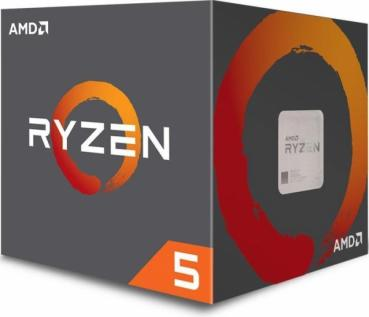 AMD Ryzen 5 2600 Boxed    6 x 3.40 GHz, Turbo 3.90 GHz, 12 Threads